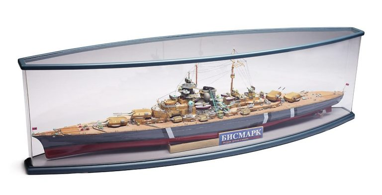 Bismarck oval display case option
