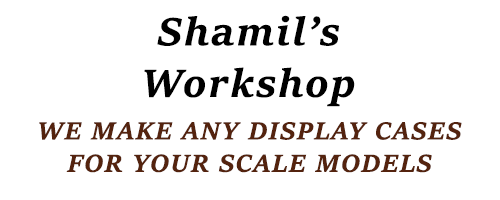 Shamil`s Workshop. We make any display cases for your scale models