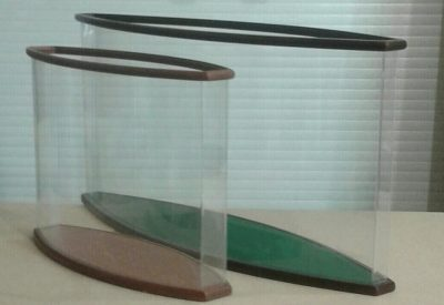 Options for oval display cases # 1