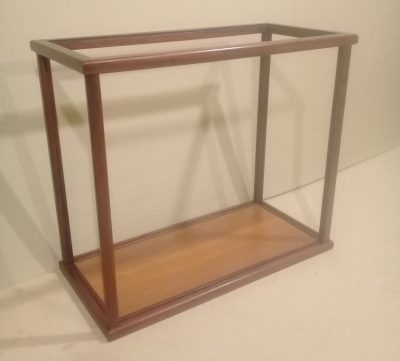 Rectangular display case assembled